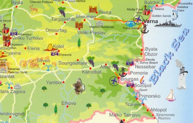 bugarska mapa Bugarska 2018 Bugarska leto 2018 Bugarska letovanje 2018 Najpovoljnije bugarska mapa
