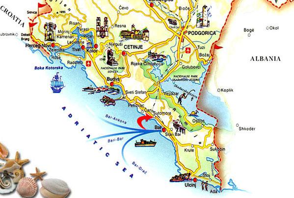 Crna Gora Sutomore Mapa Superjoden