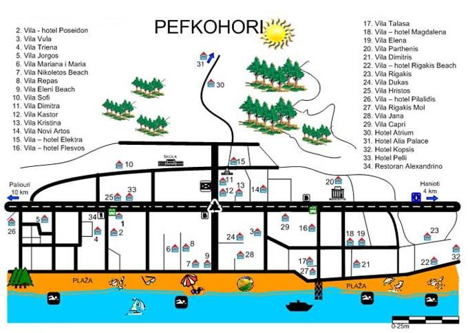 pefkohori mapa Pefkohori 2018 Pefkohori leto 2018 Pefkohori letovanje 2018 povoljno pefkohori mapa